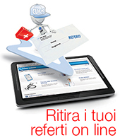 I referti del Laboratorio Analisi si ritirano on line