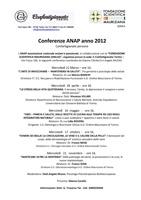 locandina ciclo conferenze ANAP