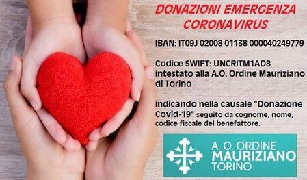Donazioni da Coronavirus
