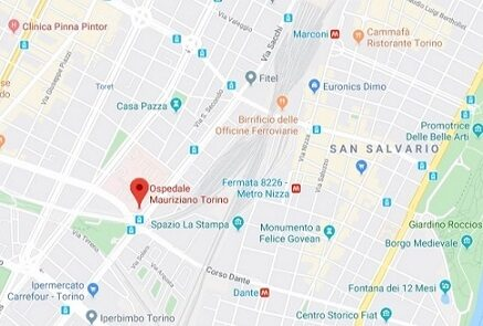 mappa Ospedale Mauriziano